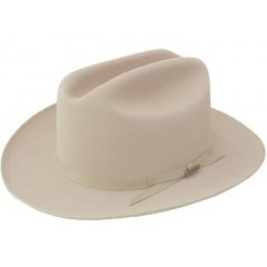Stetson Cowboy Hat  4X Open Road LBJ Crease Silverbelly Felt Cowboy Hat