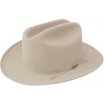 Stetson Cowboy Hat  4X Open Road LBJ Crease Silverbelly Felt Cowboy Hat