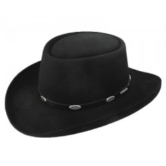 Stetson Cowboy Hat Royal Flush 4X Black Felt Cowboy Hat