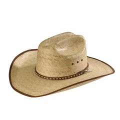 Jason Aldean Cowboy Hat Brush Hog Resistol  Palm Straw Cowboy Hat