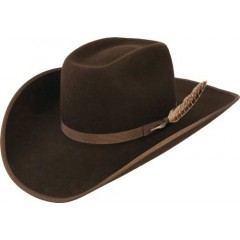 Resistol Tuff Hedeman Holt Jr Brown Bound  Edge Youth Wool Felt Cowboy Hat