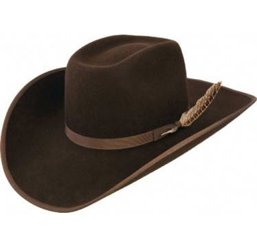 Resistol Tuff Hedeman Holt Jr Brown Bound  Edge Youth Cowboy Hat!