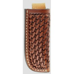 M&F Western Products Nocona Leather Goods Brown Basketweave Knife Sheath