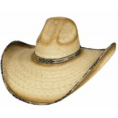 Bullhide Cowboy Hat Summerhaven 15X Palm Leaf Straw Cowboy Hat GREAT SUN AND PARTY COWBOY HAT