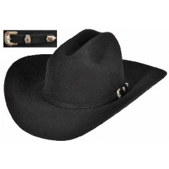 Stetson Cowboy Hat 30X  El Patron Black Fur  Felt Cowboy Hat