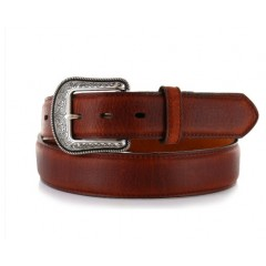 3D Dark Brown Mens Western Basic Belt