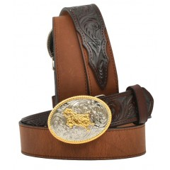"3D Kids 1 1/4"" Dark Brown Western Belt"
