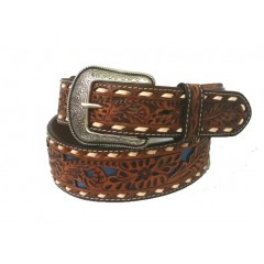 3D Natural Tooled Mens Western Belt