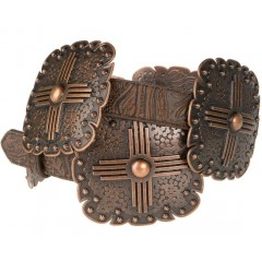 3D Copper Concho Ladies Fashion Belt