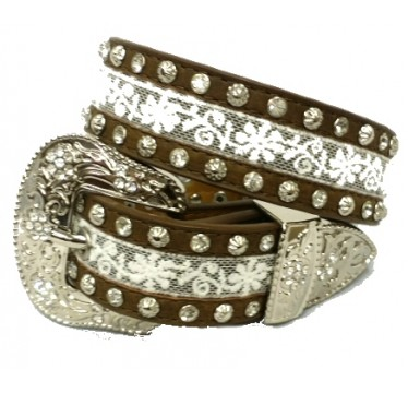 "Angel Ranch 1 1/4"" Brown Girls Fashion Belt"