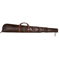3D Chocolate Leather Long Gun Case