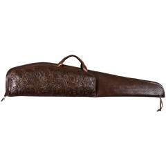 3D Chocolate Leather Scoped Rifle Gun Case