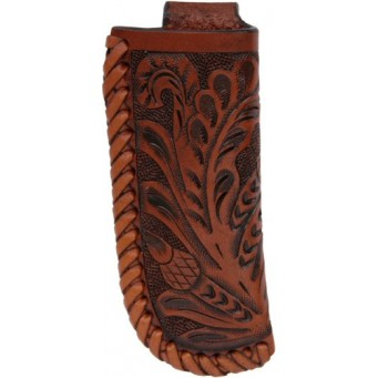 3D Tan Floral Tooled Medium Knife Sheath