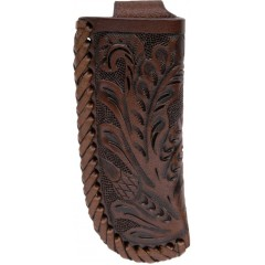 3D Chocolate Floral Tooled Medium Knife Sheath