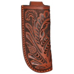 3D Tan Floral Tooled Large Knife Sheath
