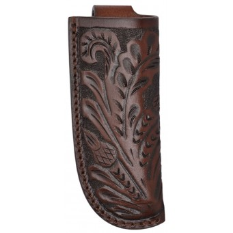 3D Chocolate Floral Tooled Large Knife Sheath