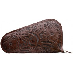 3D Chocolate Medium Leather Gun Case