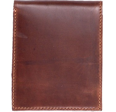 3D Tan Waxy Basic Leather Bifold Wallet