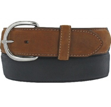 Leegin Silver Creek Collection Classic Black/Brown Mens Western Belt