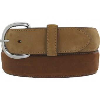 Leegin Silver Creek Collection Classic Brown/Bay Mens Western Belt