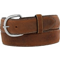 Leegin Silver Creek Collection Classic Brown Mens Western Belt