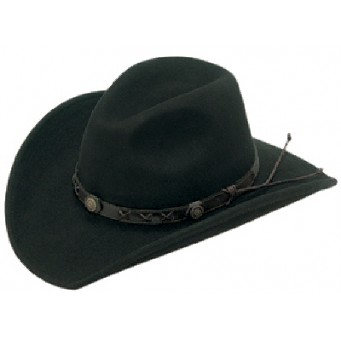 Twister  Dakota 100% Wool Crushable Cowboy Hat In Black