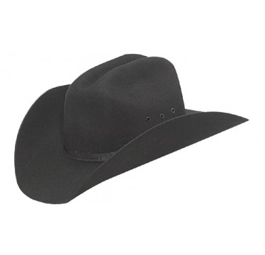 M&F Cowboy Hat Black Wool Youth Cowboy Hats