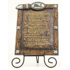 Western Moments Cowboy Ten Commandments