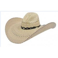 3D Old West Texas Two Tone Gus Crown 7 Inch Brim Cowboy Hat