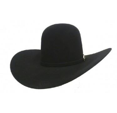 "American Hat Company 10X 6"" Open Crown Black 4.5 Brim Felt Cowboy Hat"