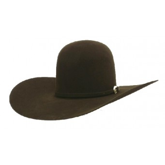 "American Hat Company 10X 6"" Open Crown Chocolate 4.5 Brim Felt Cowboy Hat"