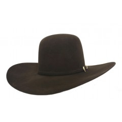 American Hat Company 10X Open Crown Chocolate 4.5 Brim Felt Cowboy Hat