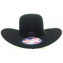 American Hat Company 10X  Black Open Crown 4.5  Brim  Felt Cowboy Hat