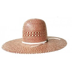 American Hat Company Red And White Straw Cowboy Hat