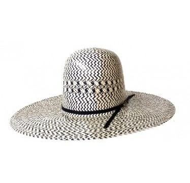 American Hat Company Blue  And White Straw Cowboy Hat