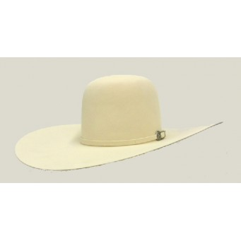 "American Hat Company 20X Open Crown Bone 5"" Brim Felt Cowboy Hat"