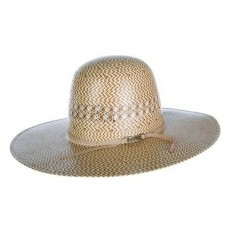 "American Hat Company Cowboy Hat  Three-Tone 6""  Open Crown 4 1/2"" Brim Straw Cowboy Hat Best Seller"