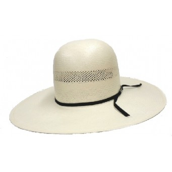 "American Hat Company One Tone Vented Open Crown 4.5"" Brim Straw Cowboy Hat"
