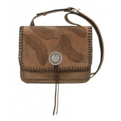 American West Sacred Bird Multi-Compartment Crossbody Flap Bag