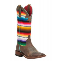 Ladies Macie Bean Serape Square Toe Cowgirl Boot