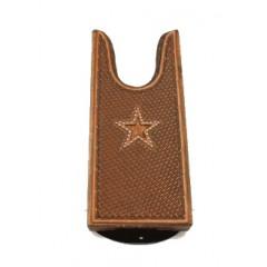 Ariat Large Boot Jack Leather Star Basketweave/Calf Hair