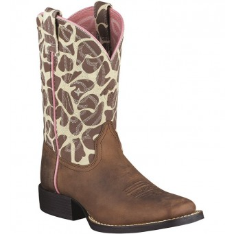 Ariat Kids Giraffe Square Toe Cowboy Boot