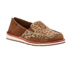 Ariat Ladies Earth Brown/Cheetah Cruiser Slip On