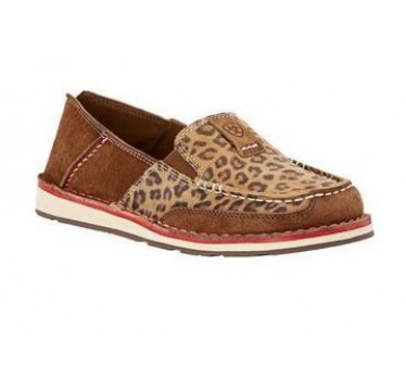 Ariat Ladies Earth Brown/Cheetah Cruiser Slip On