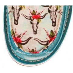 Ariat Ladies Turquoise Steer Vintage Cowgirl Cruiser
