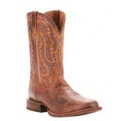 Ariat Mens Circuit Competitor Weathered Tan Round Toe Cowboy Boots
