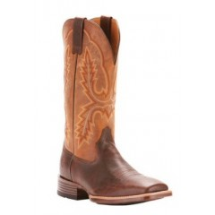 Ariat Mens Pecos Distressed Brown and Wicker Square Toe Cowboy Boots