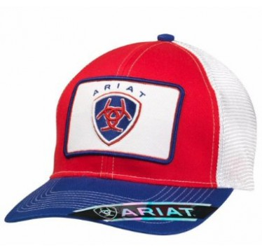Ariat Red, White, and Blue Snap Back Cowboy Cap