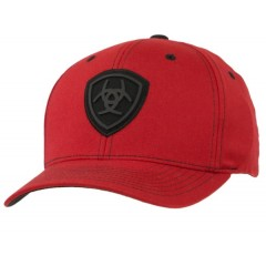 Ariat Red and Black Flex Fit Cowboy Cap