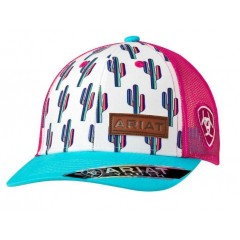 Ariat Girls Multi Colored Cactus Snap Back Cap